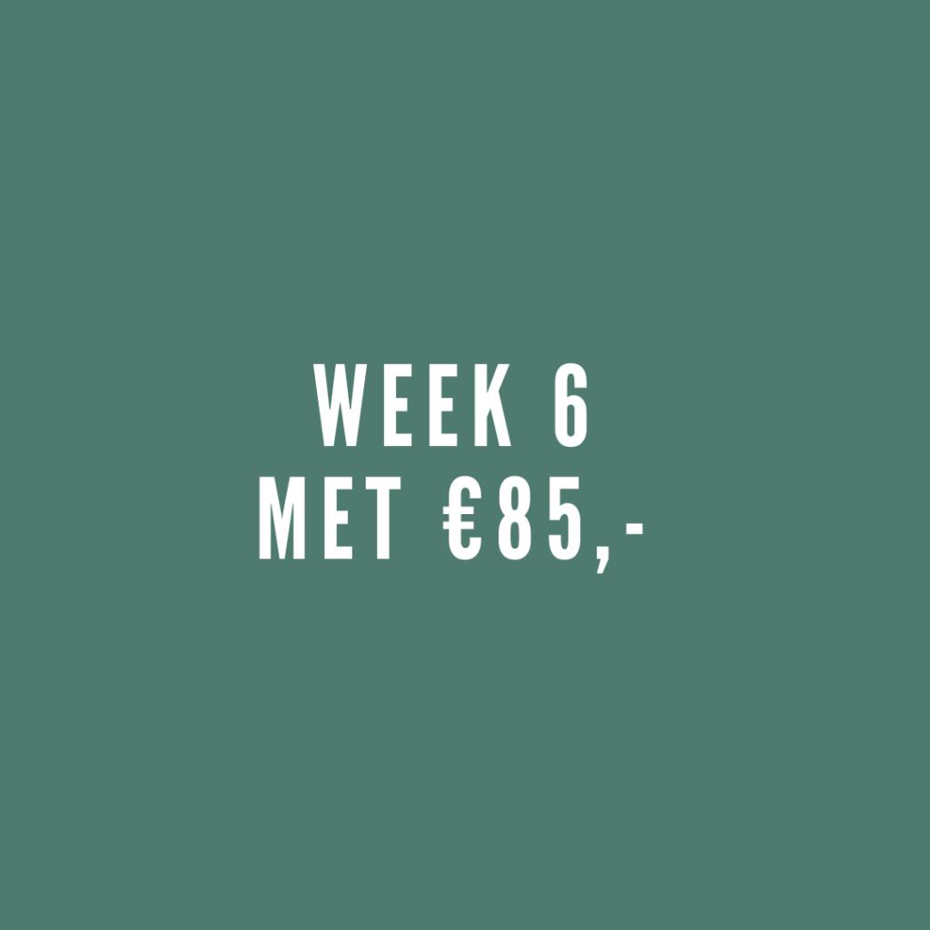 Week 6 met €85,-