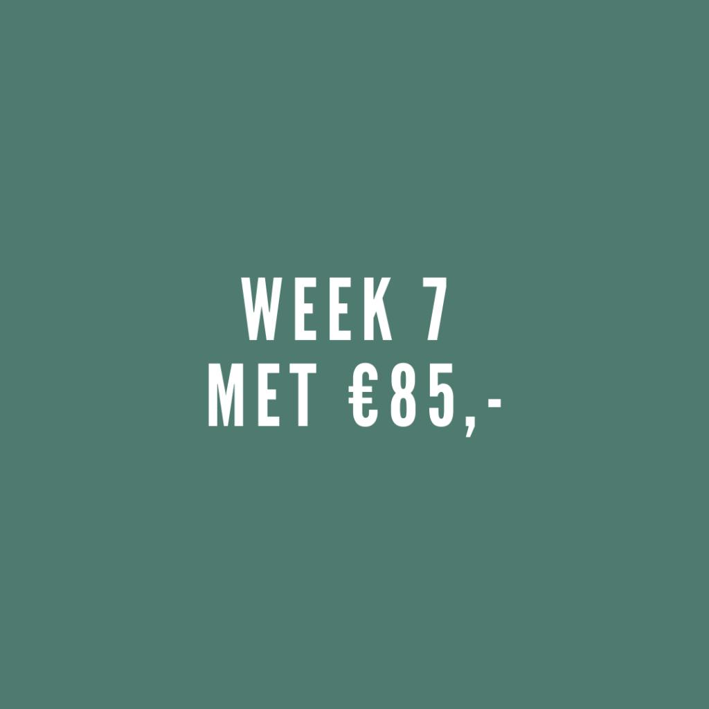 week 7 met leefgeld