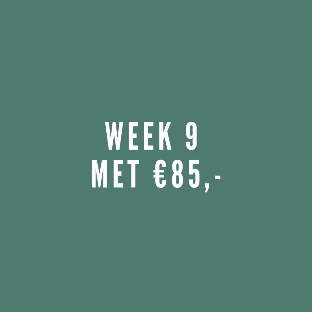 Week 9 met leefgeld