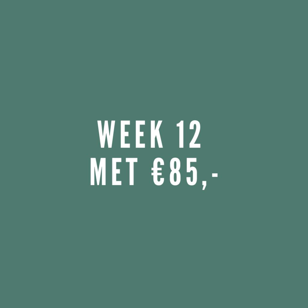 Week 12 met leefgeld
